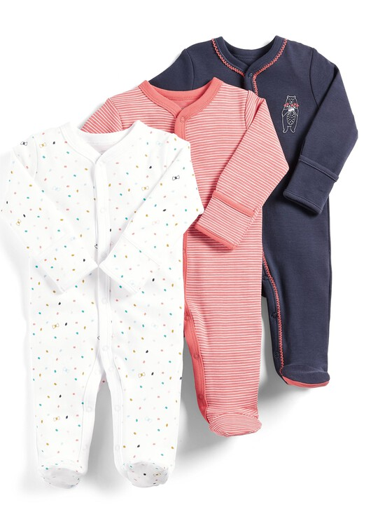 Bow Sleepsuits - Pack of 3 image number 1