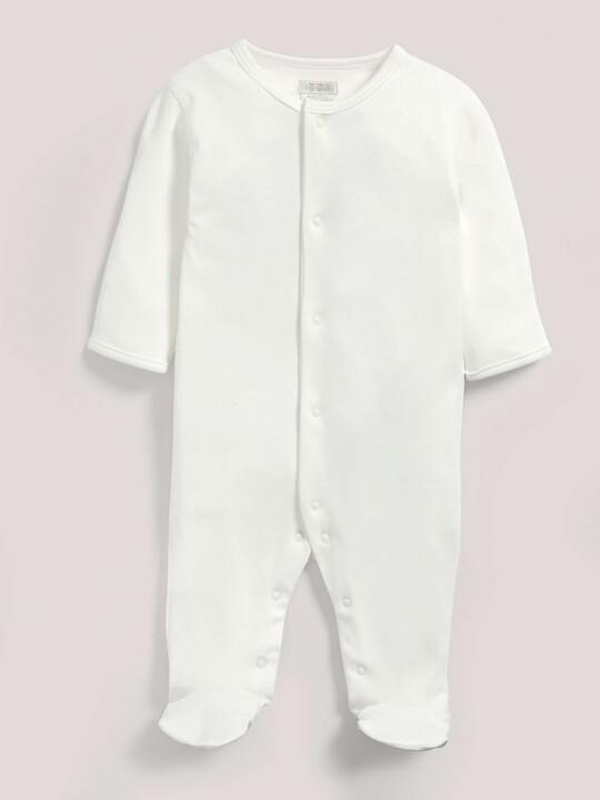 بدلة قماش البامبو من All-In-One باللون الأبيض image number 1
