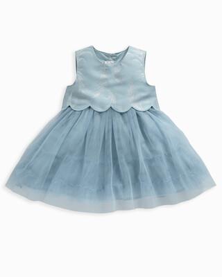 Feather Print Jacquard Dress