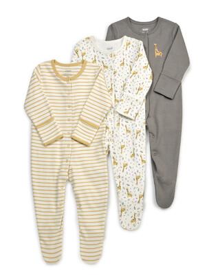 Giraffe Sleepsuits 3 Pack