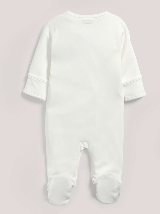 بدلة قماش البامبو من All-In-One باللون الأبيض image number 2