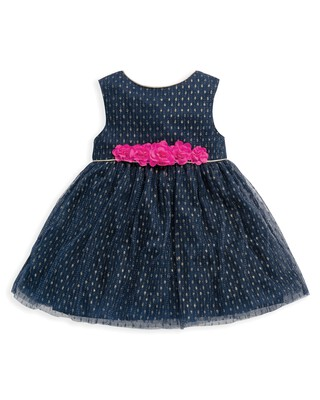 فستان من قماش دوبي شبكي