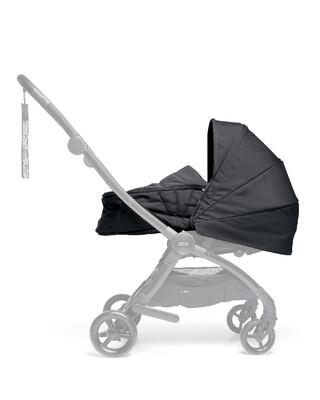 مجموعة مقعد عربة أطفال ايرو لحديثي الولادة - أسود