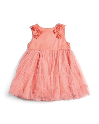 فستان بشريط مزين بزهور