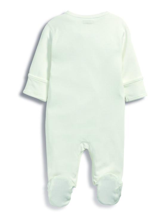 بدلة قماش البامبو من All-In-One باللون الأبيض image number 3