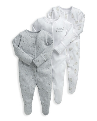 Bunny Sleepsuits 3 Pack