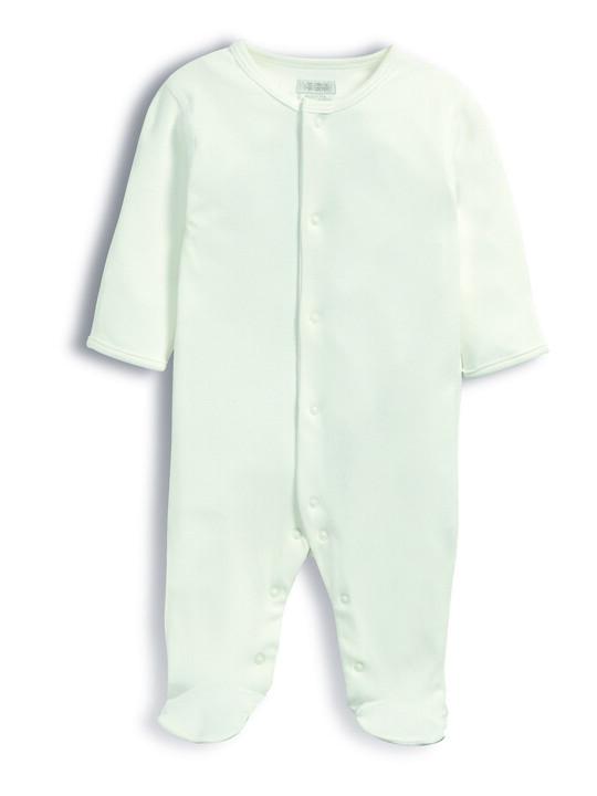 بدلة قماش البامبو من All-In-One باللون الأبيض image number 4