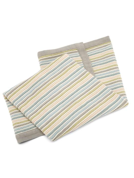 البطانية المعقودة الصغيرة - Stripe Pastel image number 3