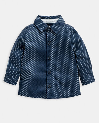 قميص منسوج بنقشة نقاط