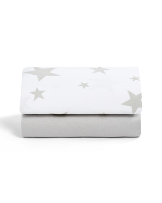 SnuzPod - 2 Pack Crib Fitted Sheets - Stars (N)