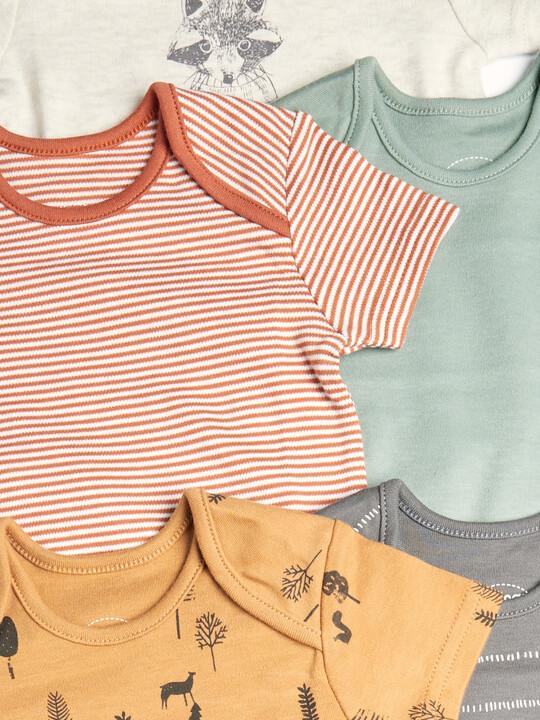 طقم لباس قطعة واحدة بتصاميم متنوعة للأولاد - 5 قطع image number 2