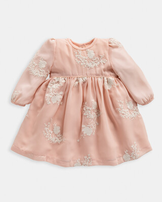 فستان مطرز - وردي