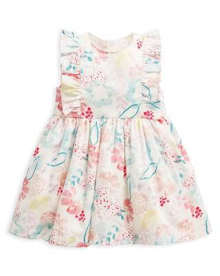 فستان بنقشة ألوان مائية